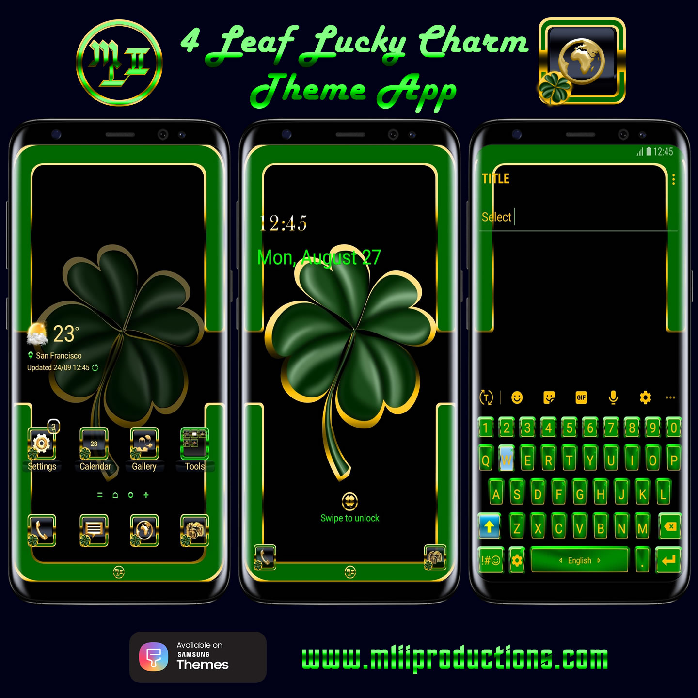 4 Leaf Lucky Charm Theme App