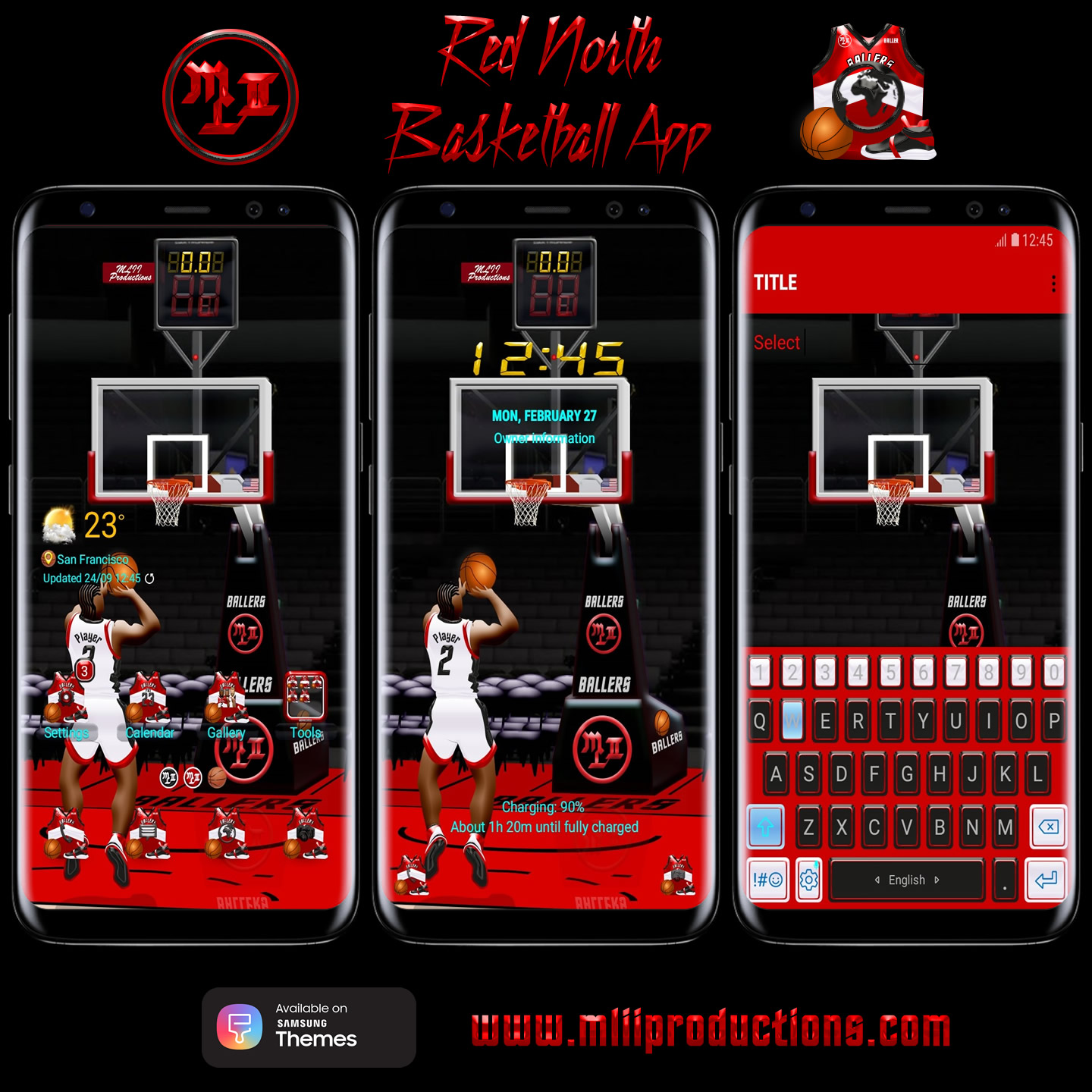 North Basketball Theme App