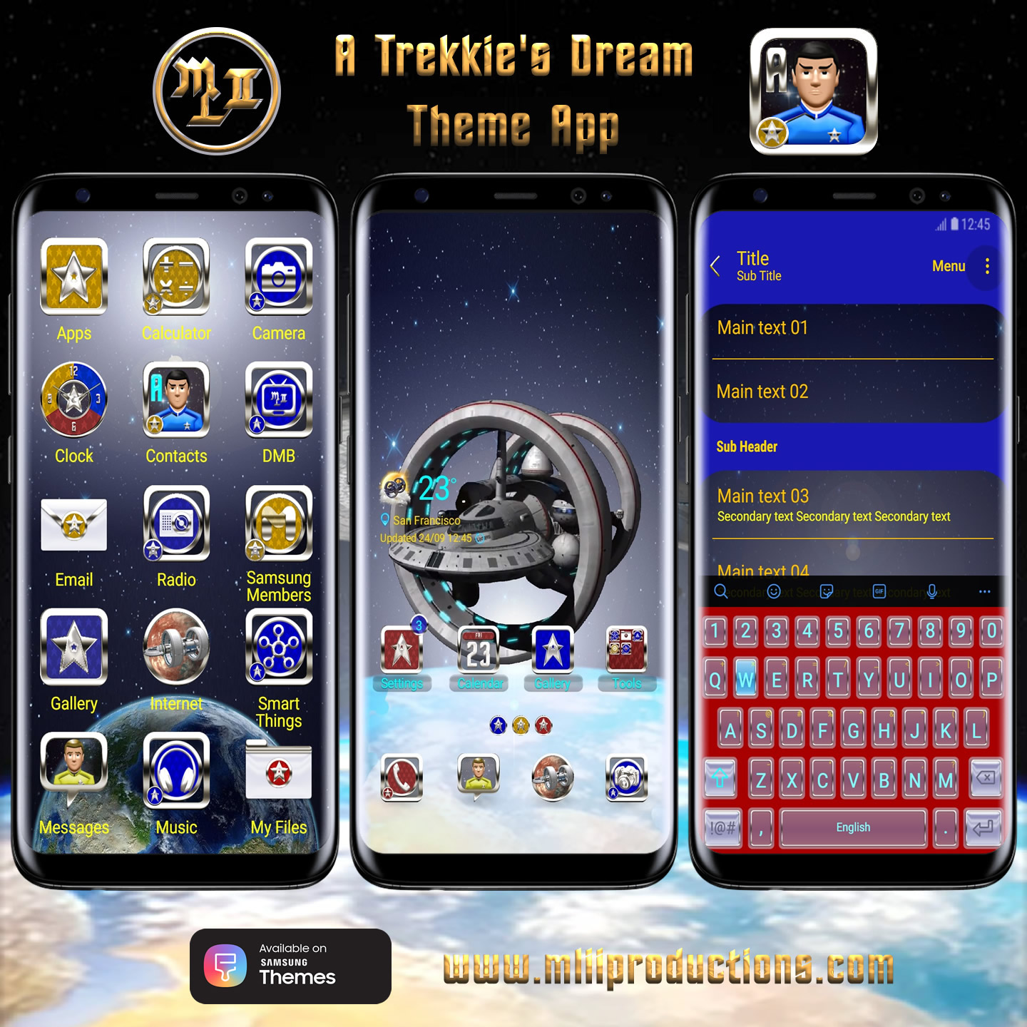 A Trekkies Dream Theme App